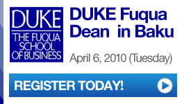 DUKE Fuqua Dean in Baku